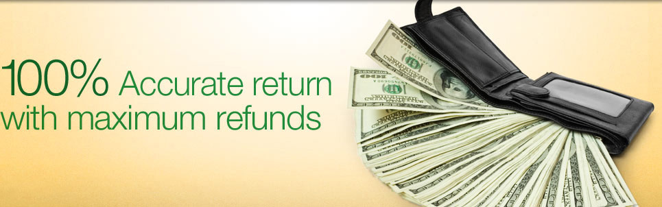 100% accurate return with maximum refunds